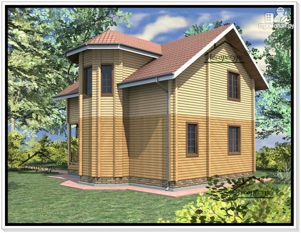 Фото 3: проект дом с двумя эркерами