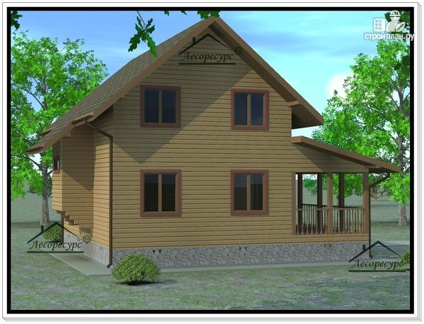 Фото: проект дом из бруса 6 × 9