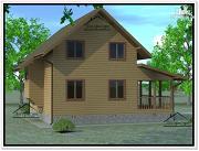 Фото: дом из бруса 6 × 9