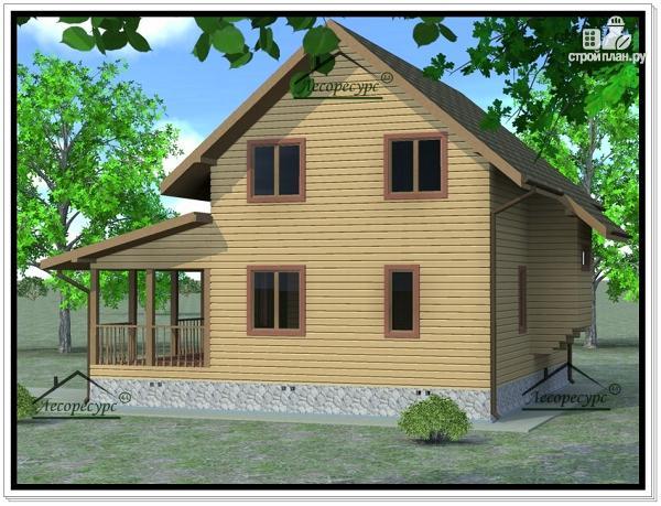Фото 4: проект дом из бруса 6 × 9