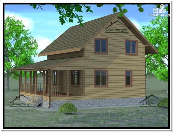 Фото 2: проект дом из бруса 6 × 9