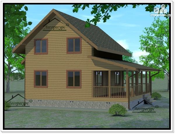 Фото 3: проект дом из бруса 6 × 9
