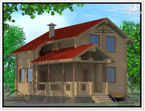 Фото 2: проект дом из бруса 7 × 10