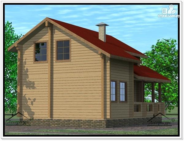 Фото 3: проект дом из бруса 7 × 10