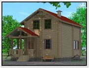 Проект дом из бруса 7 × 10
