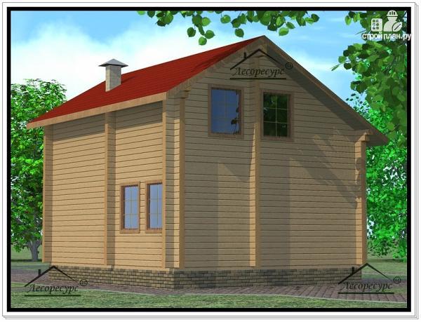 Фото 4: проект дом из бруса 7 × 10