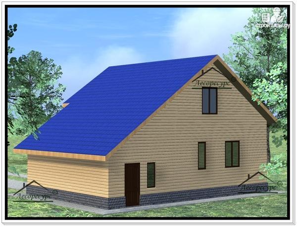 Фото 4: проект дом из бруса 10 × 11