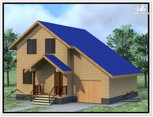 Фото: проект дом из бруса 10 × 11
