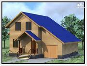 Проект дом из бруса 10 × 11