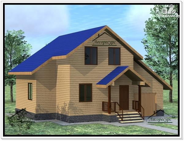 Фото 2: проект дом из бруса 10 × 11