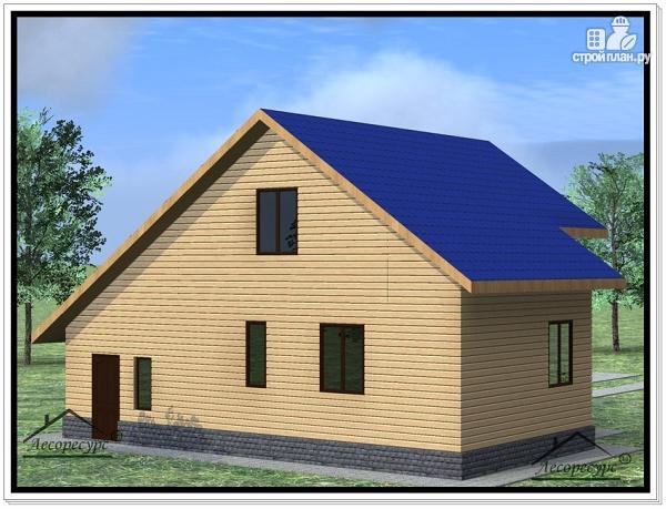 Фото 3: проект дом из бруса 10 × 11