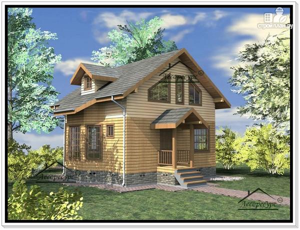 Фото 4: проект дом из бруса 7 × 7