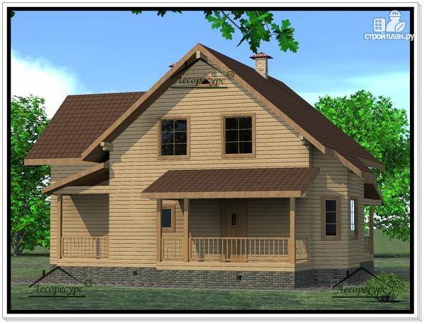 Фото 3: проект дом из бруса 12 × 13