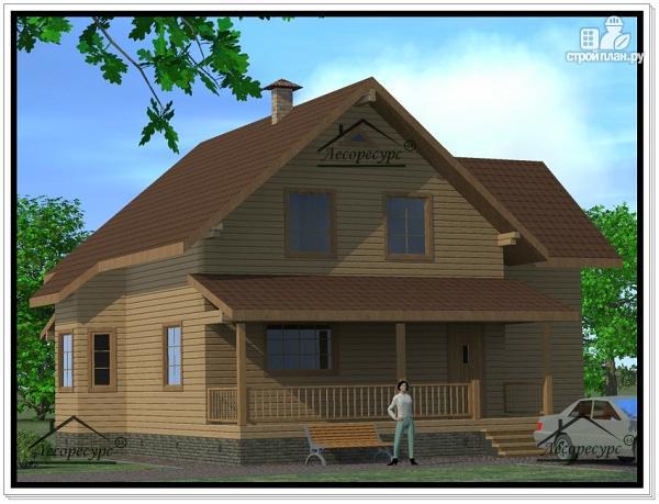 Фото 2: проект дом из бруса 12 × 13