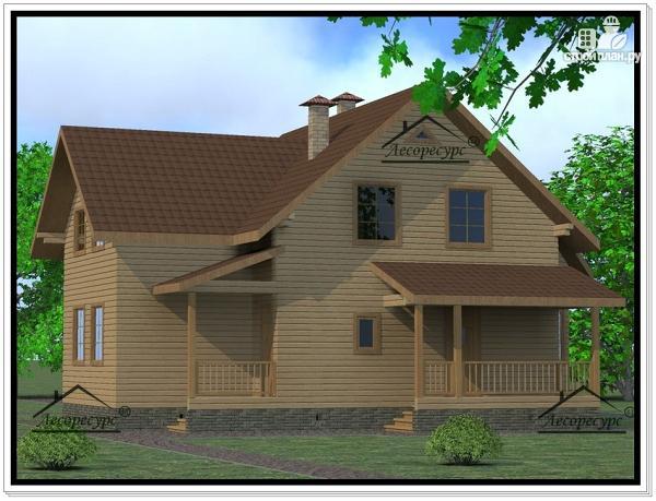 Фото 4: проект дом из бруса 12 × 13