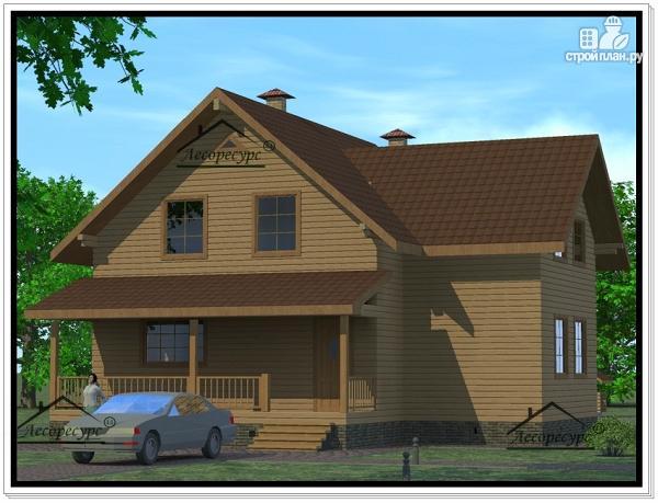 Фото: проект дом из бруса 12 × 13