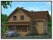 Проект дом из бруса 12 × 13