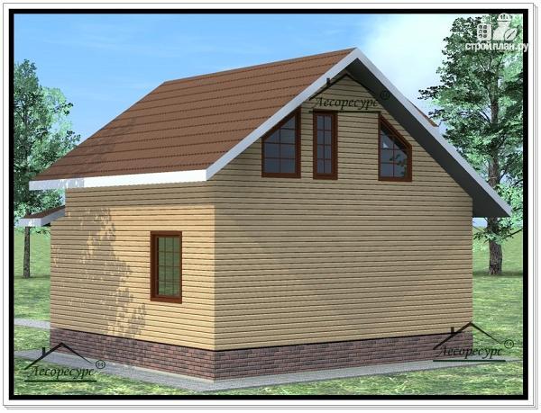 Фото 3: проект дом 8х9 из бруса