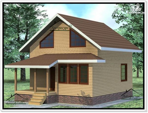 Фото 2: проект дом 8х9 из бруса