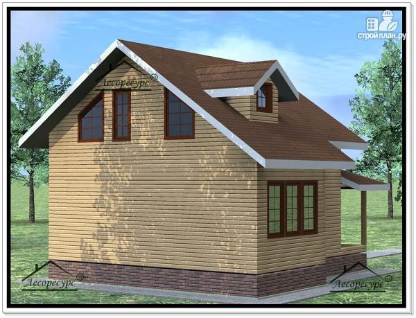 Фото 4: проект дом 8х9 из бруса