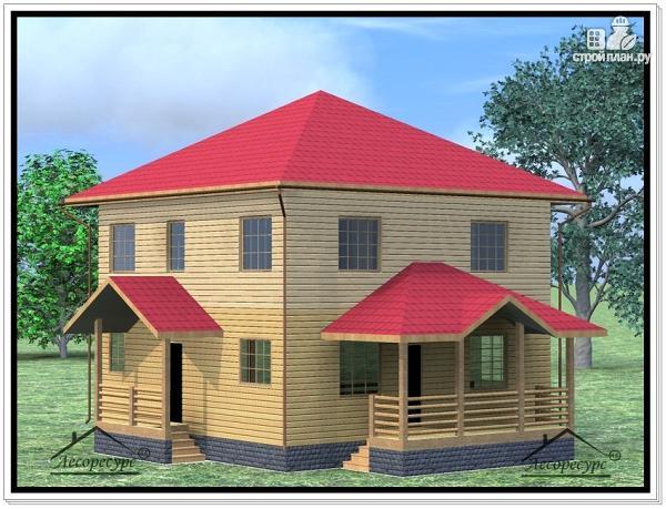 Фото: проект дом из бруса 9 × 11