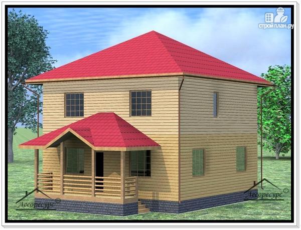 Фото 2: проект дом из бруса 9 × 11