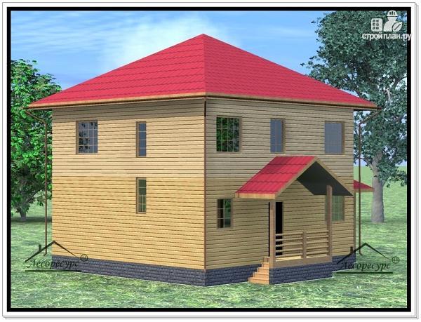 Фото 3: проект дом из бруса 9 × 11
