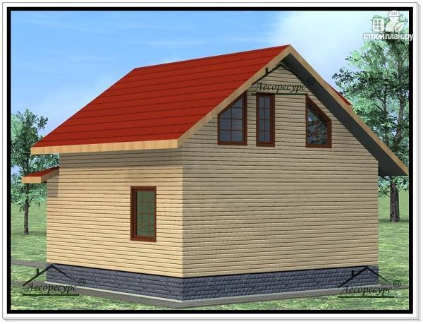 Фото 4: проект дом из бруса 8 × 9