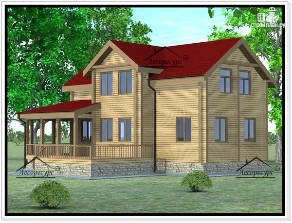 Фото 2: проект дом из бруса 11 × 13