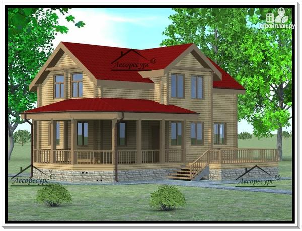 Фото: проект дом из бруса 11 × 13
