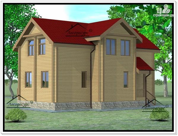 Фото 4: проект дом из бруса 11 × 13