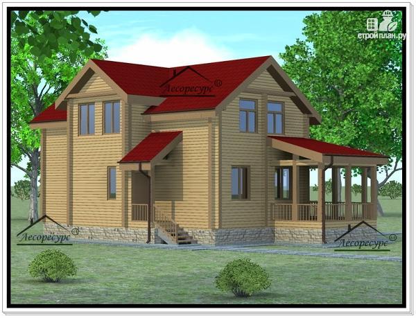 Фото 3: проект дом из бруса 11 × 13