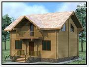 Проект дом из бруса 6×8