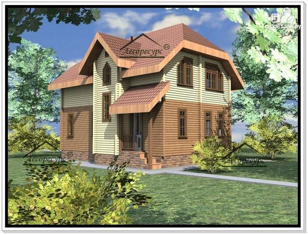Фото 3: проект дом из бруса 8.6 × 9.6