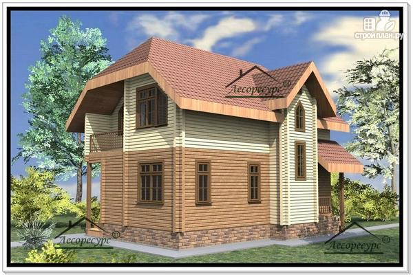 Фото 4: проект дом из бруса 8.6 × 9.6