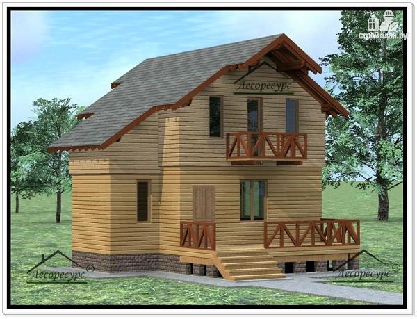 Фото: проект дом с жилой мансардой
