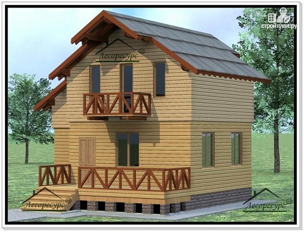 Фото 2: проект дом с жилой мансардой