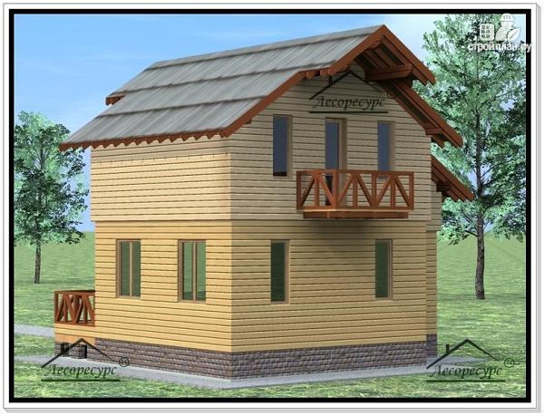 Фото 3: проект дом с жилой мансардой