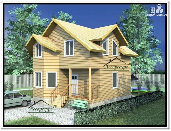 Фото: проект дом 7х9 из бруса