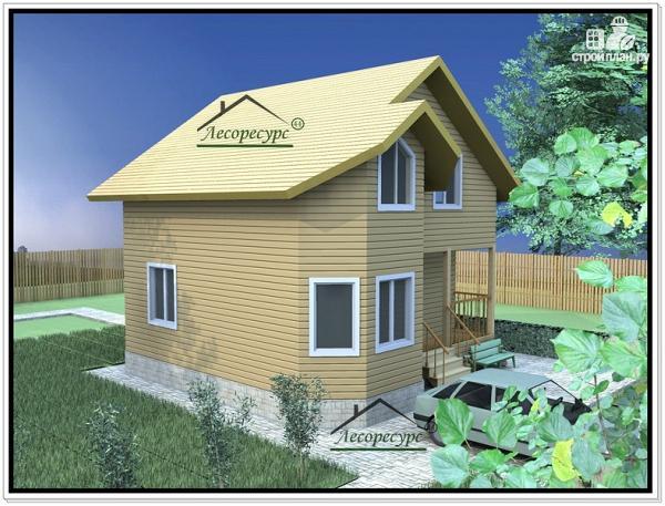Фото 4: проект дом 7х9 из бруса