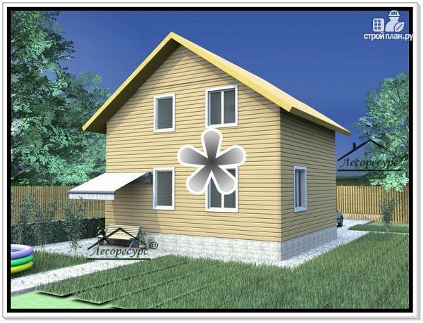Фото 2: проект дом 7х9 из бруса