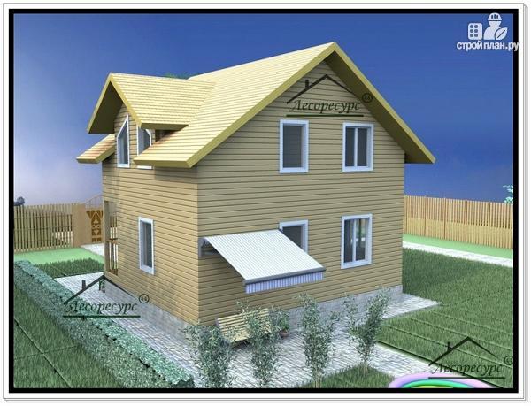 Фото 3: проект дом 7х9 из бруса