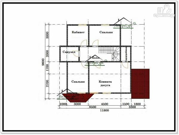 Фото 4: проект дом из бруса 9,6х11,8
