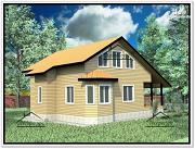 Проект дом из бруса 9,6х11,8