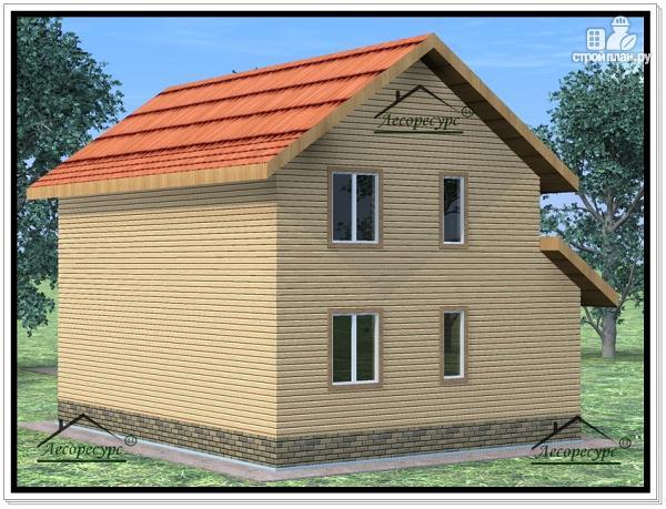 Фото 4: проект дом из бруса 8,2 × 10,2