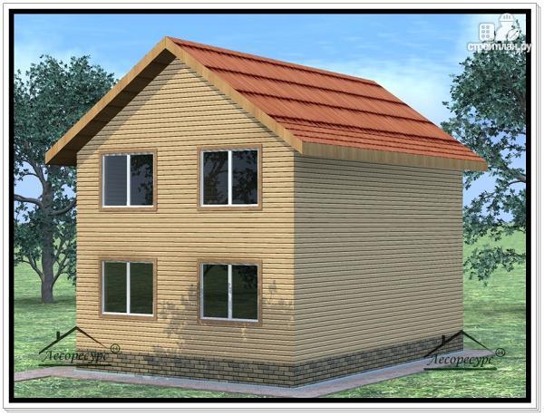 Фото 2: проект дом из бруса 8,2 × 10,2