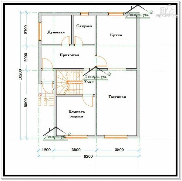 Фото 5: проект дом из бруса 8,2 × 10,2