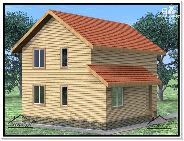 Фото 3: проект дом из бруса 8,2 × 10,2
