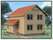 Фото: дом из бруса 8,2 × 10,2