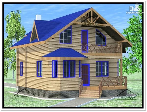 Фото 2: проект дом из бруса 8×10
